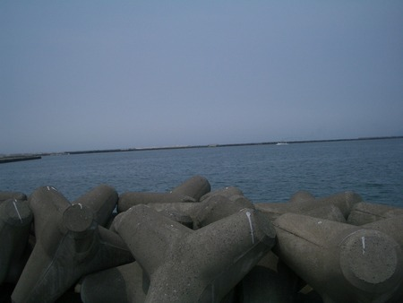 岩内の堤防