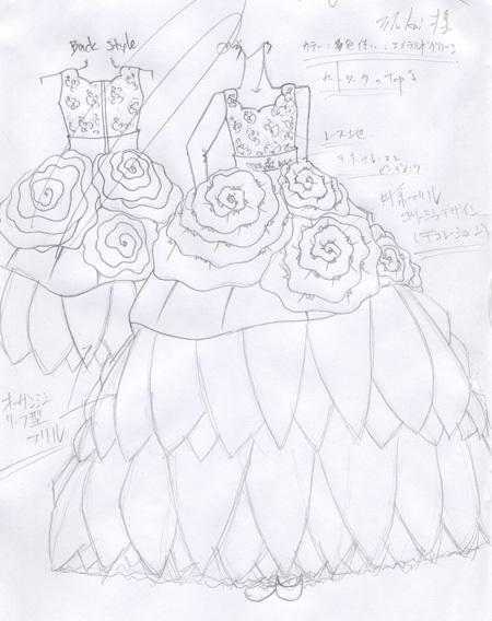 発表会ドレスのデザイン画 オーダーメイドドレス