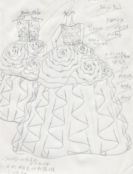 子供用ドレス デザイン画