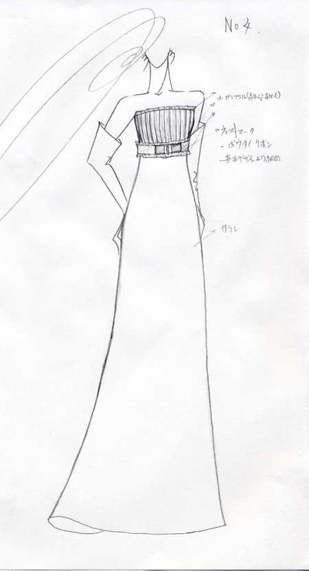 エンパイアライン ウェディングドレス オーダー
