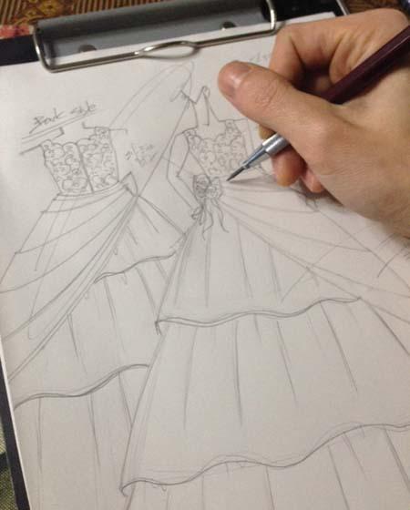 発表界ドレス コンクールドレス デザイン画