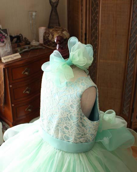 ヘッドドレス エメラルドグリーン