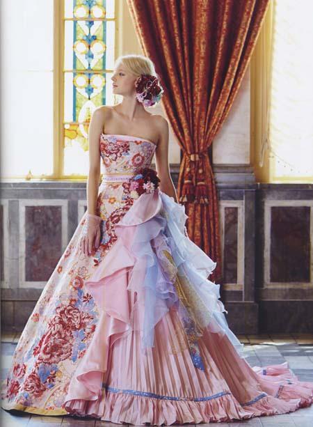 和装 着物カラードレス ピンク 人気ドレス