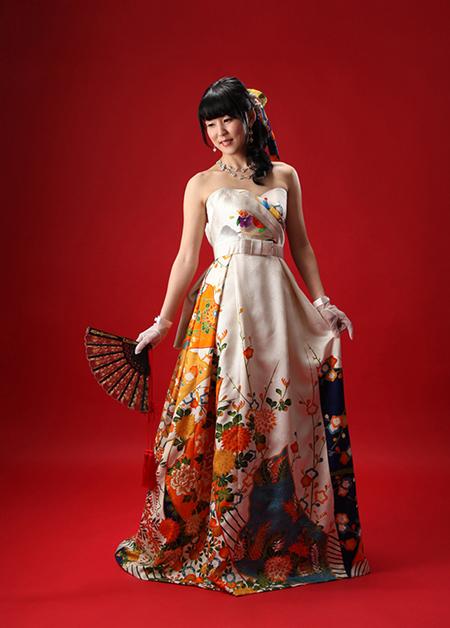 着物ウェディングドレスをオーダーメイド
