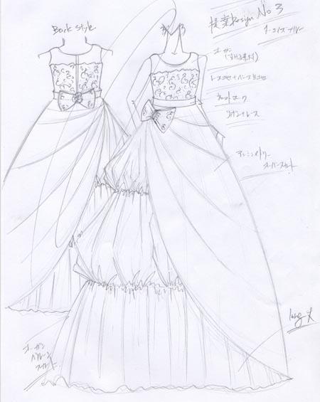 コンクール&発表会ドレスのデザイン画