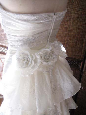 ウェディングドレス用 コサージュ