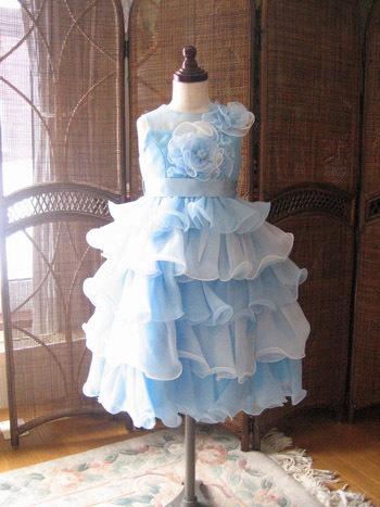 子供用ドレス ブルー