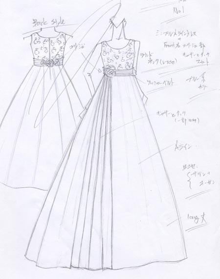 子供用 オーダードレス 発表会用 コンクール用ドレス