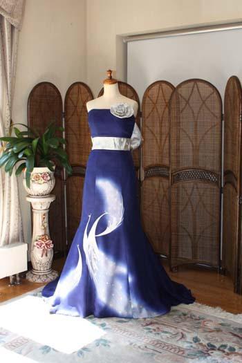 お色直し用カラードレス 花嫁のリメイクドレス
