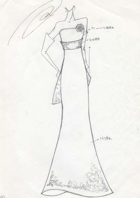 花嫁様のウェディングドレスデザイン