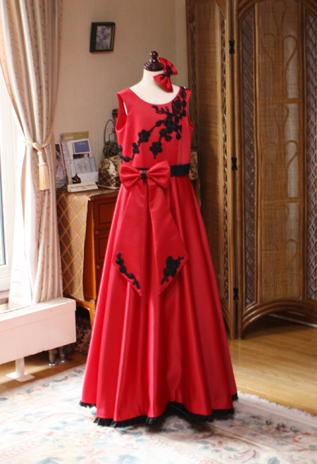 コンクール用ドレス レッド