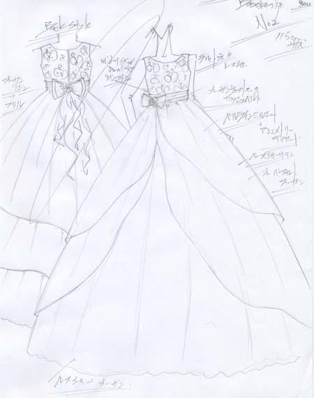 ピアノのコンサート用ドレスのデザイン