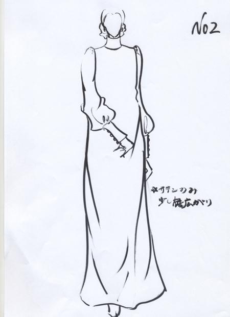 シンプルなクラシックドレス