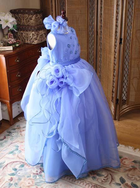 発表会 コンクール ステージドレス ブルー