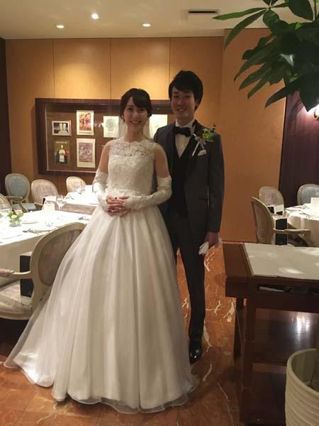 メタモールフォーゼの花嫁様のウェディングドレス