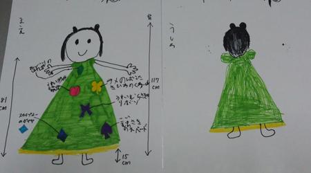 お子様が描いたデザイン画