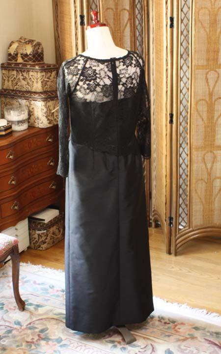 ブラックフォーマル ロングドレス