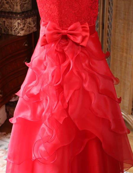 ロングドレス 中学生 スカートとフリルデザイン