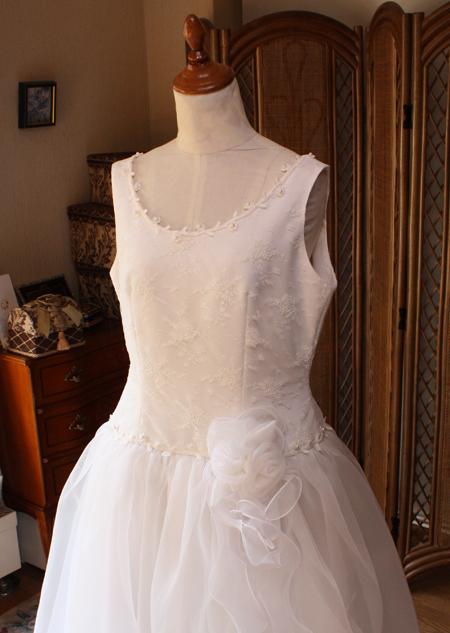 ウェディングドレス リメイク 上半身