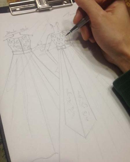 コンクールドレスのデザイン 山梨県のお子様ドレス