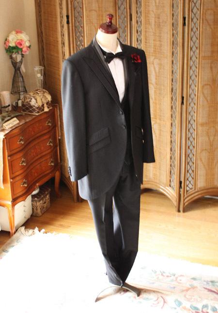 最高級ウール チュニックタキシード 花婿衣装 レンタル セミオーダー