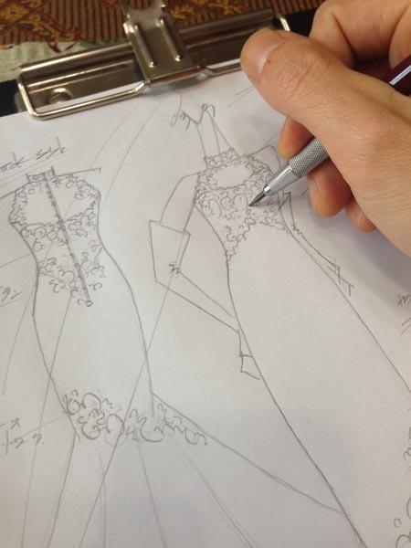 マーメイドドレス ウェディングドレスのデザイン
