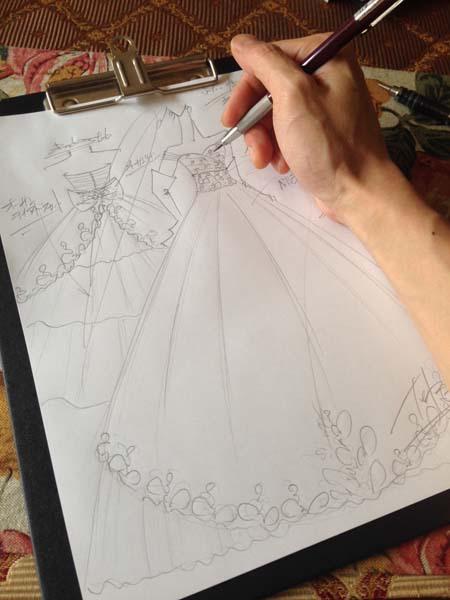 2wayウェディングドレス 花嫁デザイン