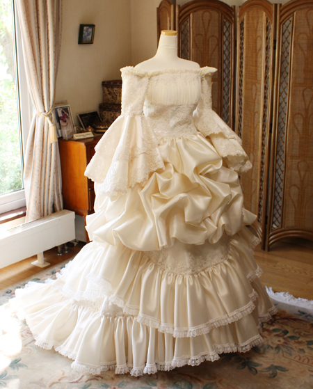 アンティークウェディングドレス