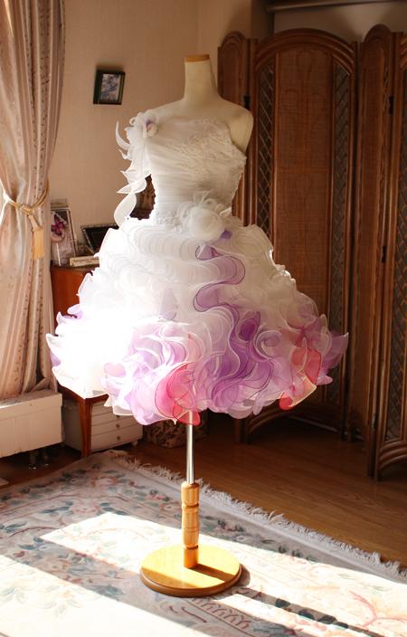 ミニ丈ウェディングドレス