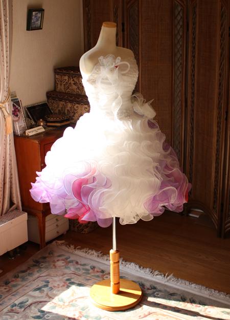 オーダーメイド ミニ丈 ウェディングドレス