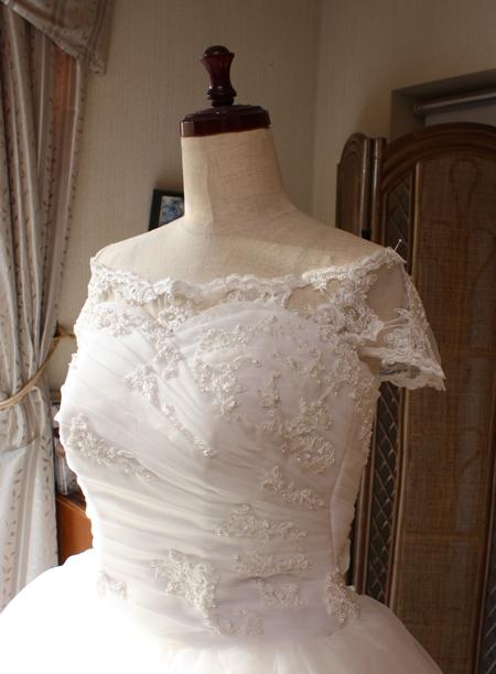 ハート形のドレス
