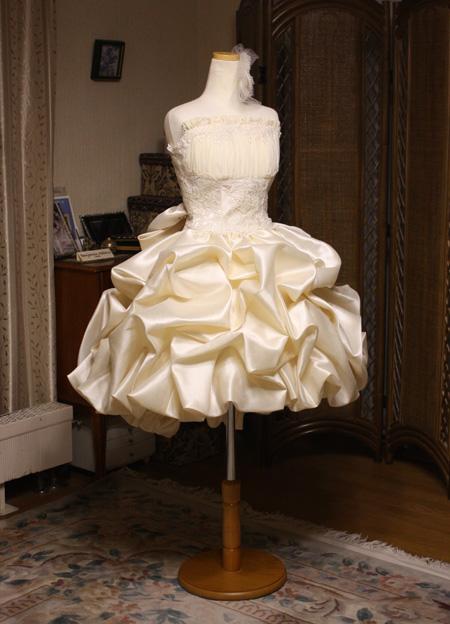 ウェディングドレス ミニスカート