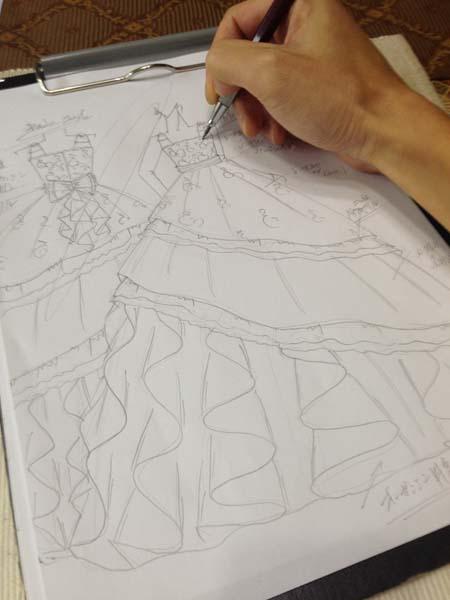 子供用オーダーメイドドレス デザイン画