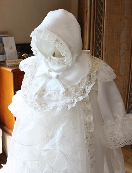 お宮参り 100日用 ベビードレス