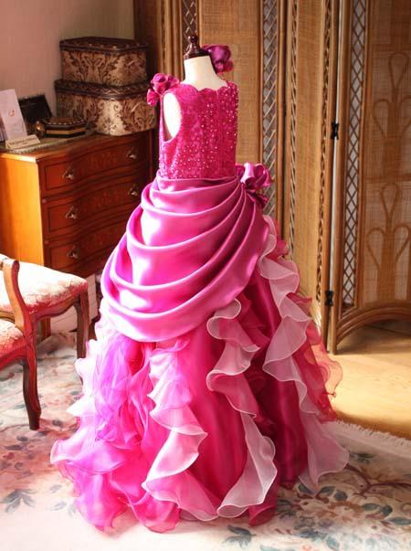 子供用ドレス オーダーメイド バックスタイル