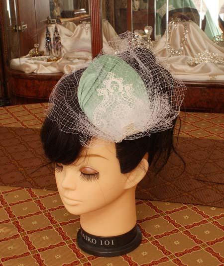 ウェディングドレスのヘッドドレス製作