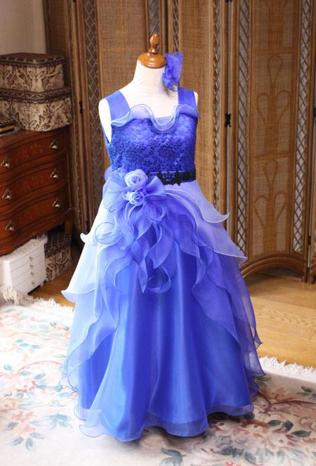 ブルー ピアノの発表会ドレス オーダーメイド 北海道