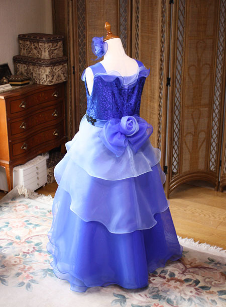 子供用 ピアノの発表会ドレス ブルー