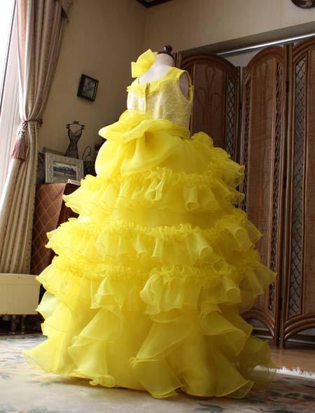コンクールドレス 小学生 黄色