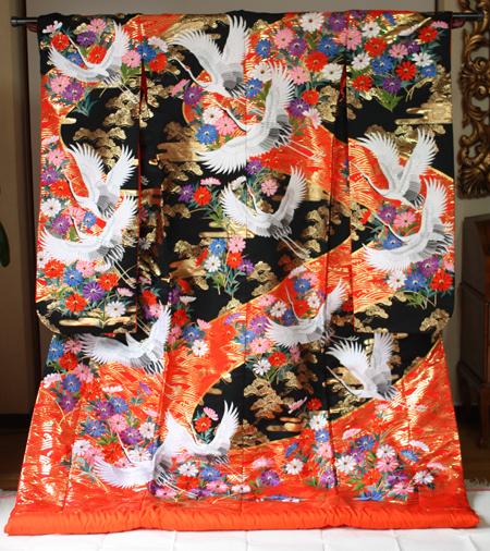 鶴の色打掛
