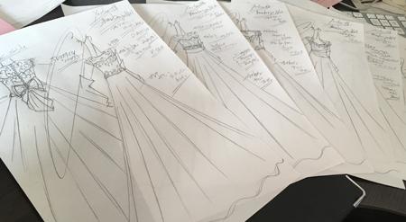 花嫁の理想のイメージとウェディングドレス姿を描くデザイン