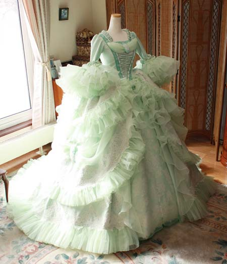 アンティーク ウェディングドレス マリーアントワネット