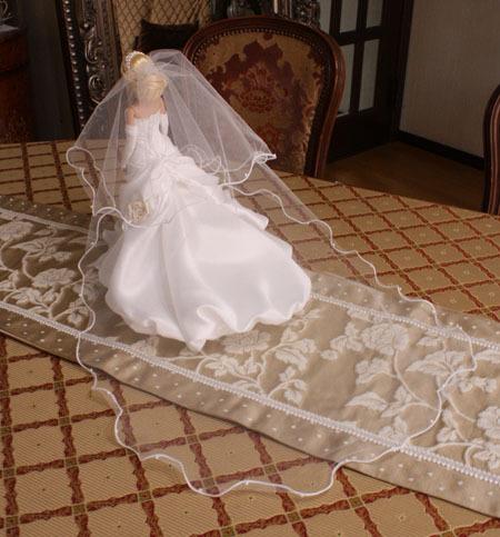 ミニチュアウェディングドレス ロングベール