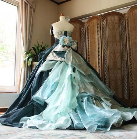 和装カラードレス 札幌