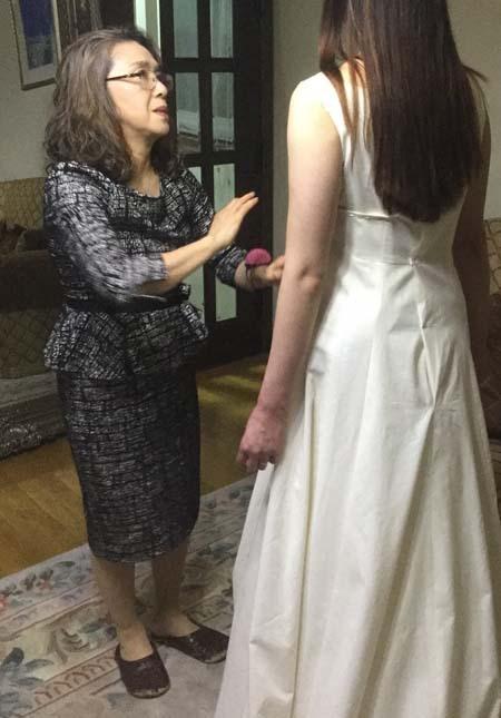 花嫁ウェディグドレスを製作のご相談