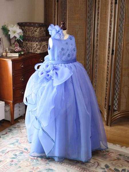 ピアノの発表会ドレス ダークブルーのドレス制作