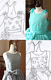 ラウンドネック ドレスデザイン