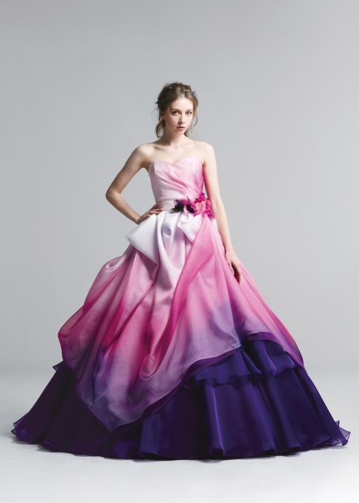 結婚式用お色直しカラードレス グラデーションピンク 札幌店と埼玉店でレンタル開始