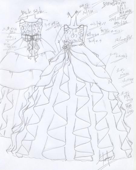 子供用ドレス ピアノのコンサートドレス