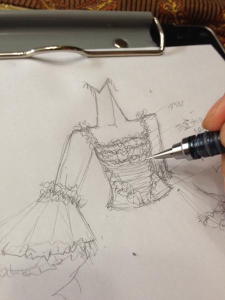 アンティークウェディングドレス 制作